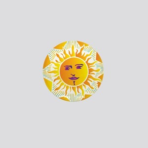 Smiling Sun Mini Button