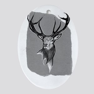 stag Oval Ornament