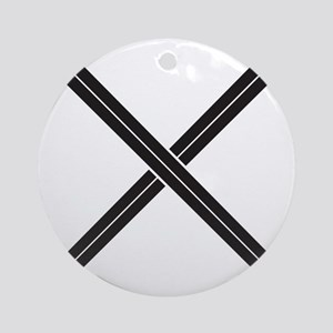 Crossed Swords Ornament (Round)