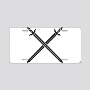 Crossed Swords Aluminum License Plate