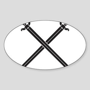 Crossed Swords Sticker