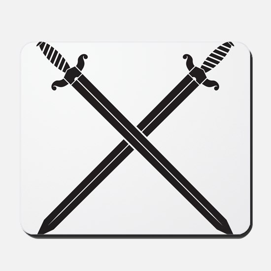 Crossed Swords Mousepad