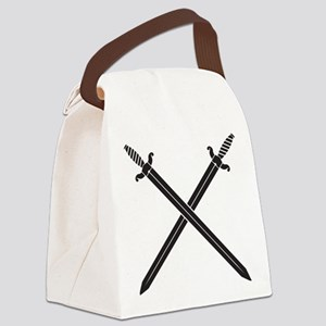 Crossed Swords Canvas Lunch Bag