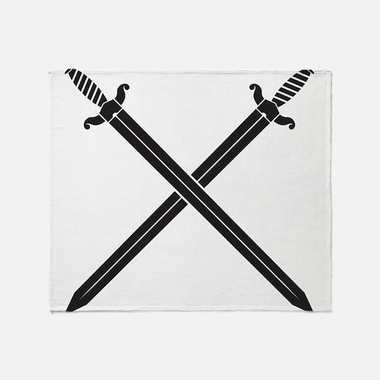 Crossed Swords Throw Blanket