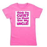 thinkimcute_uncle_pink Girl's Tee