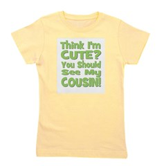 thinkimcute_cousins_green.png Girl's Tee