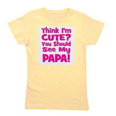 thinkimcute_papa_pink.png Girl's Tee