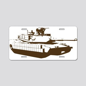 Tank Aluminum License Plate