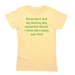 unsolicitedadvice_green_TR Girl's Tee