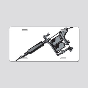 Tattoo Machine Aluminum License Plate