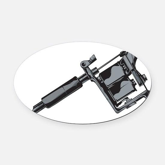 Tattoo Machine Oval Car Magnet