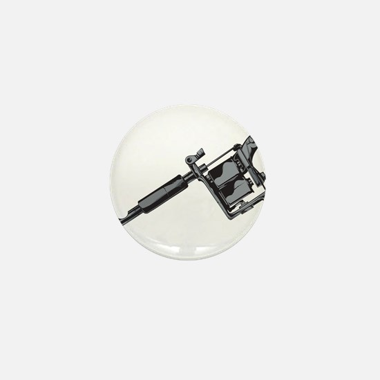 Tattoo Machine Mini Button
