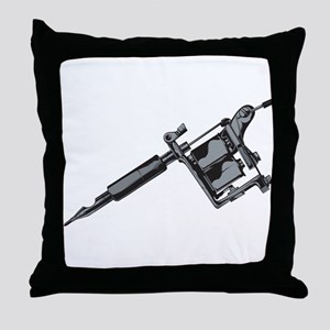 Tattoo Machine Throw Pillow