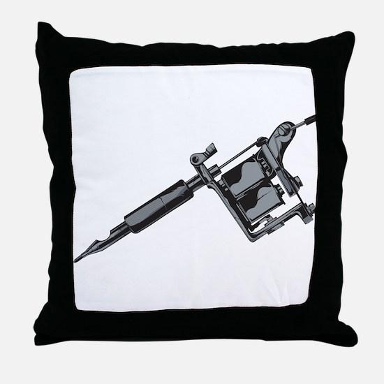 Tattoo Machine Throw Pillow