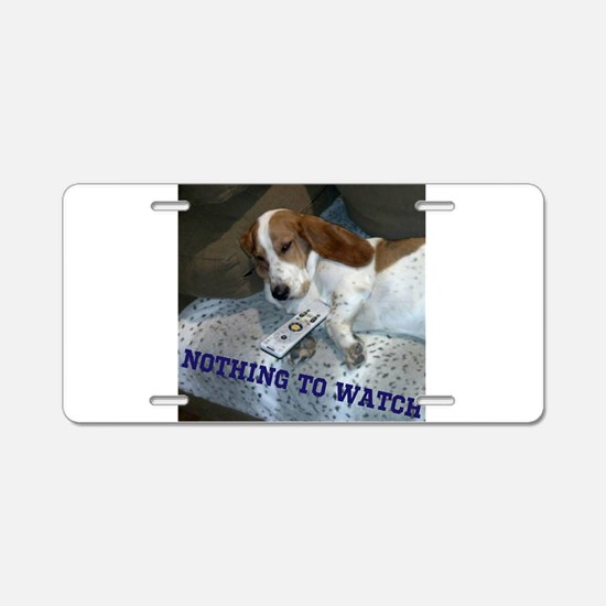 Lazy Dog Aluminum License Plate