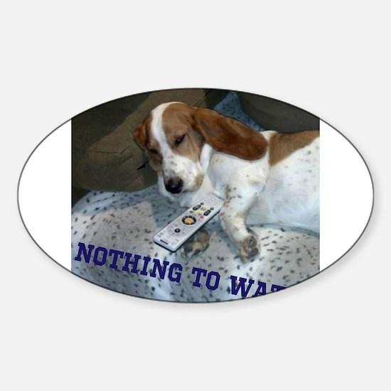 Lazy Dog Sticker (Oval)