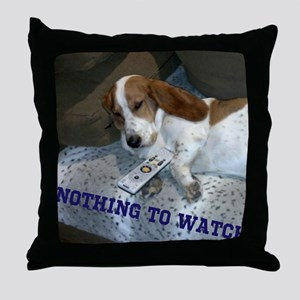 Lazy Dog Throw Pillow