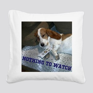 Lazy Dog Square Canvas Pillow