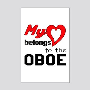 My Heart Belongs To The Oboe Mini Poster Print