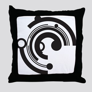 Tech Shapes Throw Pillow