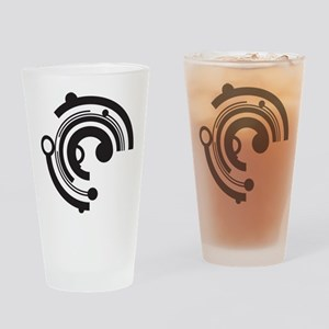 Tech Shapes Drinking Glass