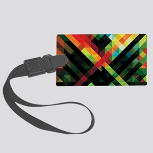 Colorful Geometric Abstract  Large Luggage Tag