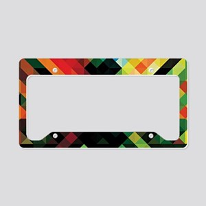 Colorful Geometric Abstract  License Plate Holder