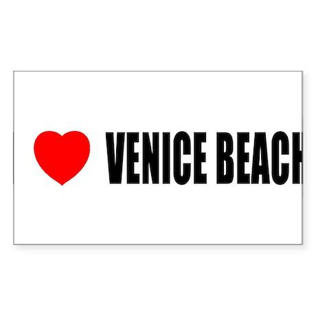 I Love Venice Beach, Californ Sticker (Rectangular