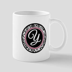 Letter Y girly black monogram Mugs