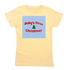 babysfirstchristmas_wtree_bluebg.png Girl's Tee