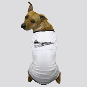 Digby Fishing Boat Pen & Ink Dog T-Shirt