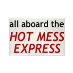 All Aboard The Hot Mess Express Rectangle Magnet (