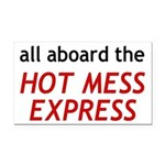 All Aboard The Hot Mess Express Rectangle Car Magn