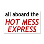 All Aboard The Hot Mess Express Car Magnet 20 x 12