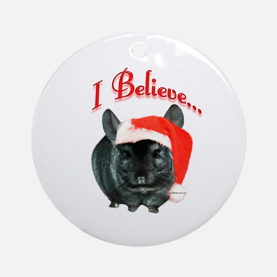 Chin I Believe (ebony) Ornament (Round)