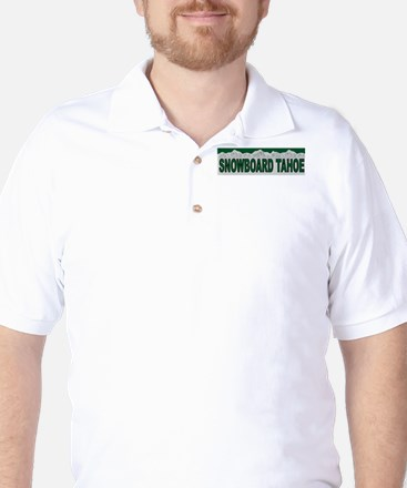 Snowboard Tahoe Golf Shirt