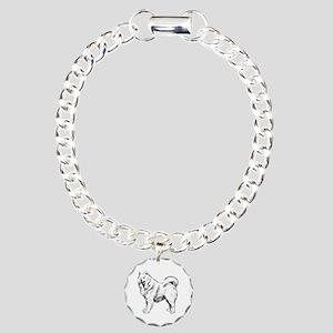 Samoyed Charm Bracelet, One Charm