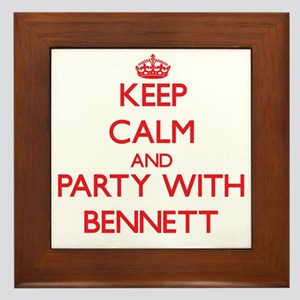 Keep Calm and Party with Bennett Framed Tile
