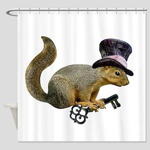 Squirrel Hat Key Shower Curtain