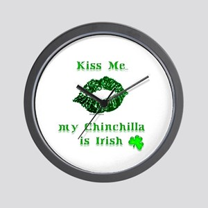 Chinchilla Kiss Wall Clock
