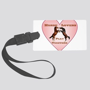 Horse Lovers Play Together Luggage Tag