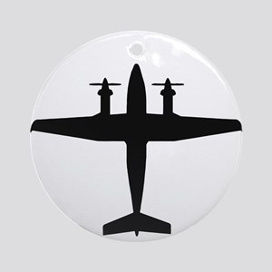 Beech King Air 300 (top) Ornament (Round)
