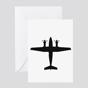 Beech King Air 300 (top) Greeting Cards