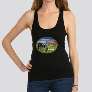 Tranquillity Is Owning A Horse Racerback Tank Top