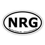 New River Gorge, WV Oval Car Sticker