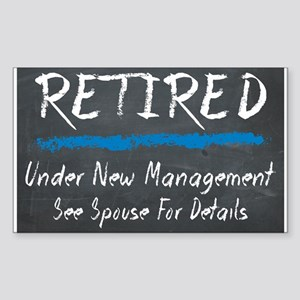 Chalkboard Retired Under New Management Sticker