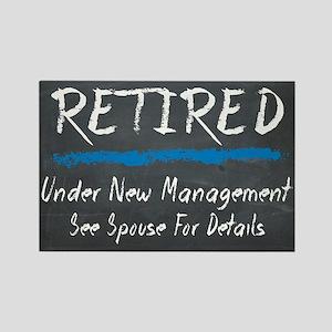 Chalkboard Retired Under New Management Magnets