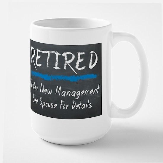 Chalkboard Retired Under New Management Mugs