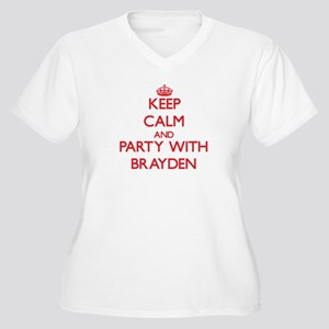Keep Calm and Party with Brayden Plus Size T-Shirt