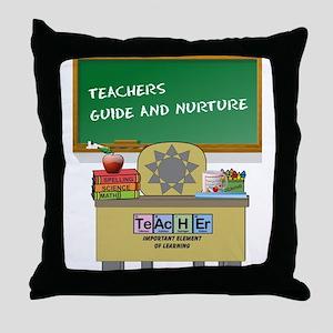 Teachers Guide And Nurture Throw Pillow